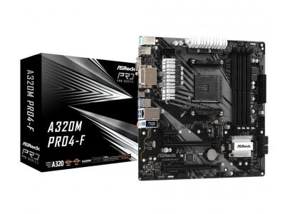 Материнская плата AMD A320 SAM4 MATX A320M PRO4-F ASROCK