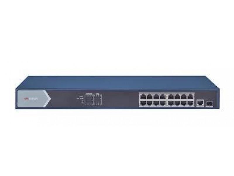 Коммутатор 16PORT 1000M POE DS-3E0518P-E/M HIKVISION