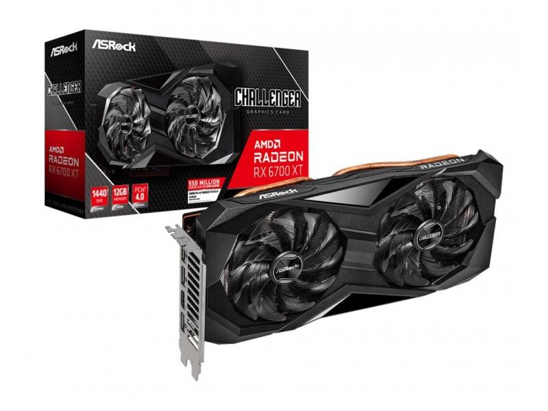 Видеокарта PCIE16 RX6700XT 12GB GDDR6 RX6700XT CLD 12G ASROCK