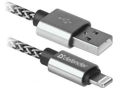 Кабель LIGHTNING TO USB2 1M WHITE ACH01-03T 87809 DEFENDER