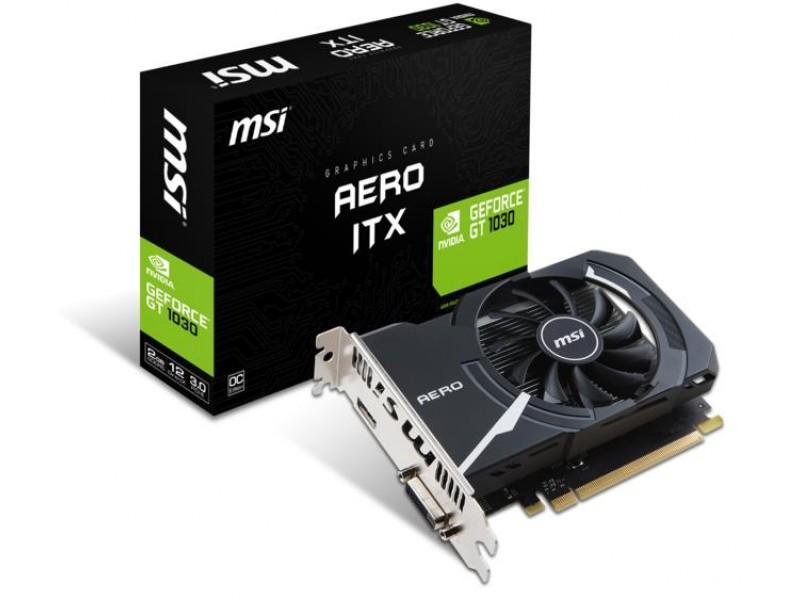 Видеокарта PCIE16 GT1030 2GB GDDR5 GT 1030 AERO ITX 2G OC MSI