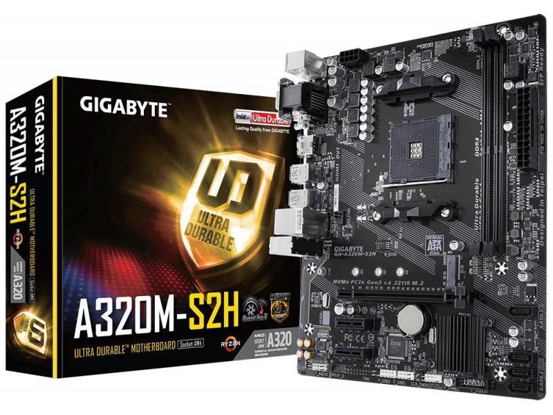 Материнская плата AMD A320 SAM4 MATX GA-A320M-S2H V1.1 GIGABYTE