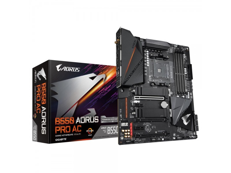 Материнская плата AMD B550 SAM4 ATX B550 AORUS PRO AC 1.1 GIGABYTE