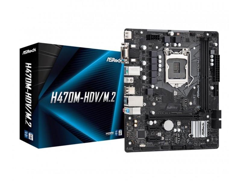 Материнская плата H470 S1200 MATX H470M-HDV/M.2 ASROCK