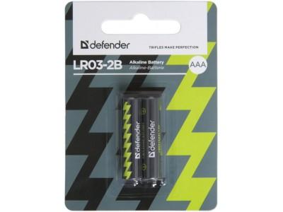 Батарея ALKALINE AAA 1.5V LR03-2B 2PCS 56003 DEFENDER
