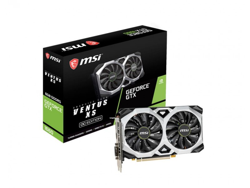Видеокарта PCIE16 GTX1660 6GB GDDR5 GTX 1660 VENTUS XS 6G OCV1 MSI