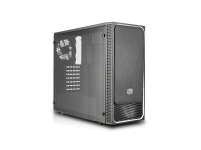 Корпус COOLER MASTER MasterBox E500L (Side Window Panel Version) MidiTower без Б/П ATX MicroATX MiniITX Цвет черный / серебристый MCB-E500L-KA5N-S02