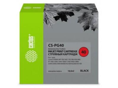 Картридж BLACK 18ML CS-PG40 CACTUS