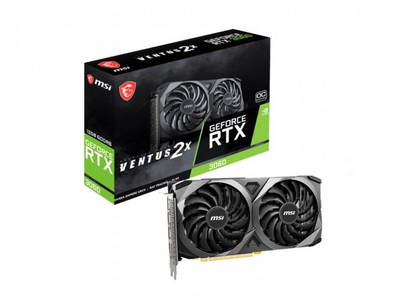 Видеокарта PCIE16 RTX3060 12GB GDDR6 RTX 3060 VENTUS 2X OC RU MSI