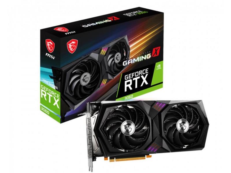 Видеокарта PCIE16 RTX3060 12GB GDDR6 RTX 3060 GAMING X 12G MSI