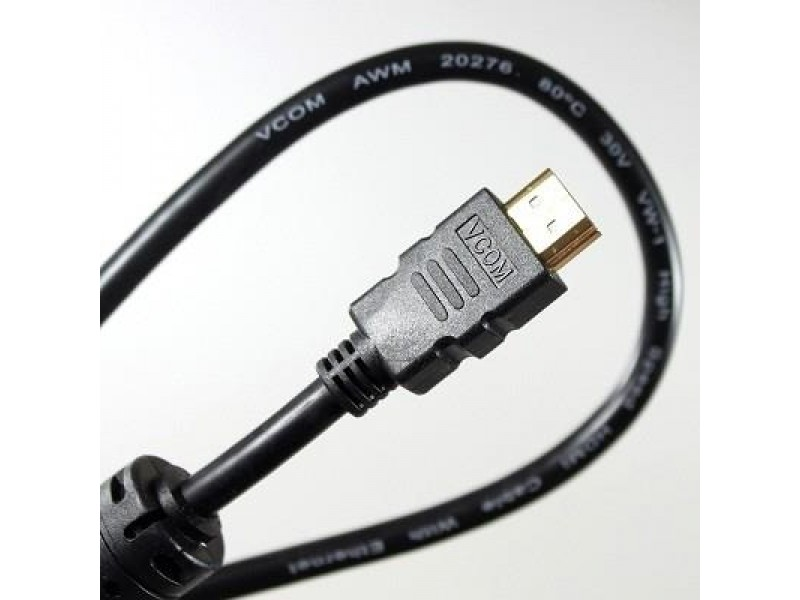 Кабель а/в VCOM 10m м HDMI to HDMI (19M -19M) 1.4+3D 2 фильтра VHD6020D-10MB