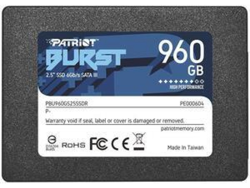 "SSD жесткий диск SATA2.5"" 960GB BURST PBE960GS25SSDR PATRIOT"
