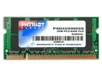 Модуль памяти для ноутбука 2GB PC6400 DDR2 SO PSD22G8002S PATRIOT