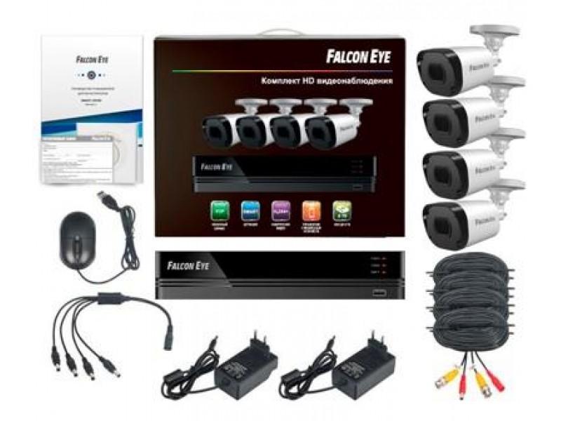 Комплект видеонаблюдения 4CH + 4CAM KIT FE-2104MHD KIT SMAR FALCON EYE