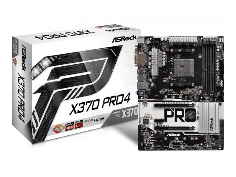 Материнская плата AMD X370 SAM4 ATX X370 PRO4 ASROCK