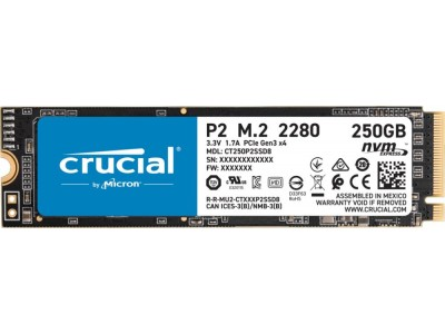 SSD жесткий диск M.2 2280 250GB P2 CT250P2SSD8 CRUCIAL