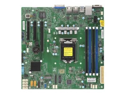 Серверная материнская плата C242 S1151 MATX BLK MBD-X11SCL-F-B SUPERMICRO
