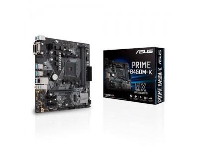 Материнская плата AMD B450 SAM4 MATX PRIME B450M-K ASUS