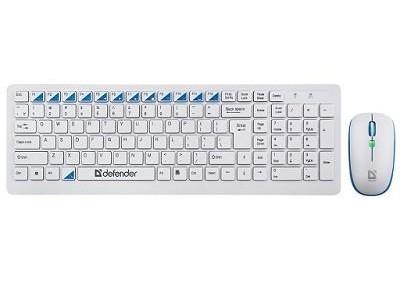 Беспроводная клавиатура/мышь SKYLINE 895 RU WHITE 45895 DEFENDER